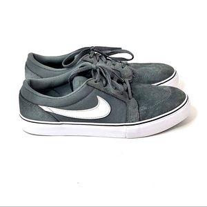 Nike SB Satire ll Gray Suede /Canvas Skate Sneaker
